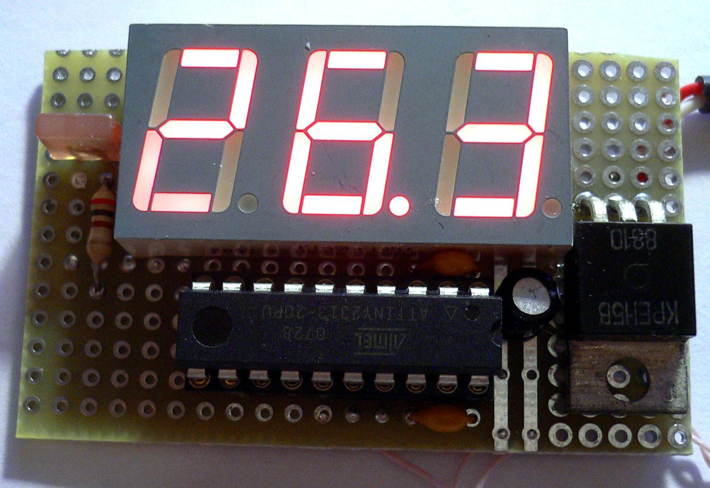 Простой цифровой термометр своими руками / Geektimes 77